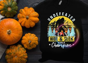 Bigfoot Undefeated Hide and Seek World Champion Halloween vintage T shirt