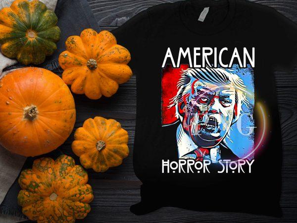 American Trump Horror Story Halloween Costume T shirt design