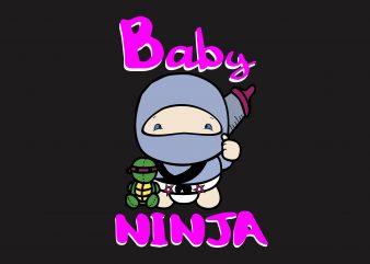 Baby Ninja t shirt template