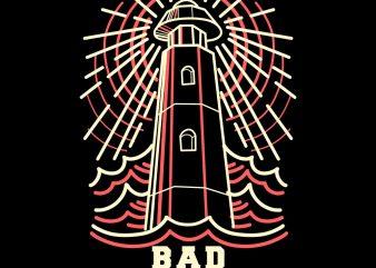 bad sailors tshirt design