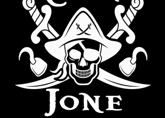 Pirate Name – Editable Psd file t shirt illustration