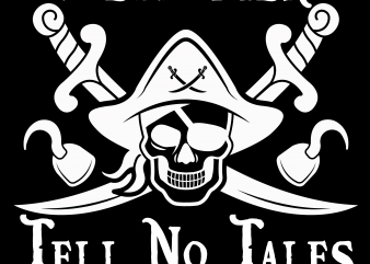 Pirate png – Dead men tell no tales t shirt illustration