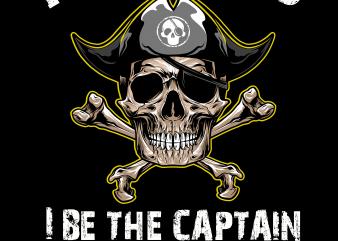 Pirate png – Pirate dad t shirt illustration
