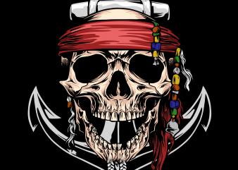 Pirate png – Pirate Skull t shirt illustration
