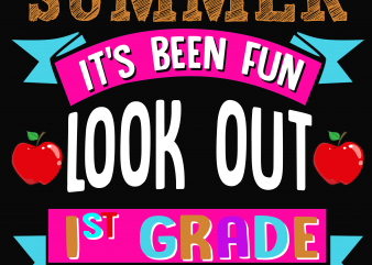Back to School – 1st grade – Custom psd file, font and png t shirt template