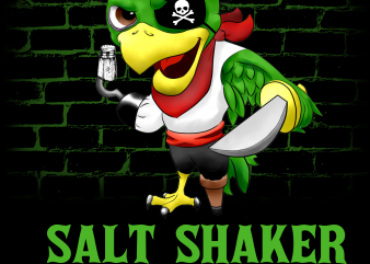 Pirate png – Salt shaker security t shirt illustration