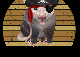Pirate png – Pirate possum t shirt illustration