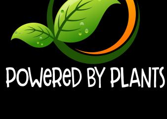 Vegan Png – Powered by plants t shirt vector art
