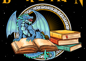 Reading png file – I am a book dragon t shirt design online