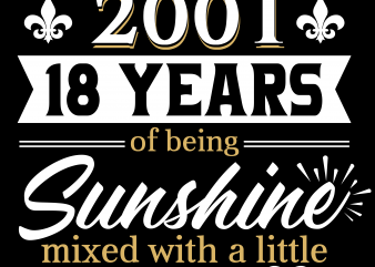 Birthday Tshirt Design – Age Month and Birth Year – March 2001 18 Years