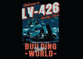 building better world t shirt template