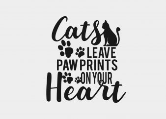 Cats Leave Paw Print t shirt vector file