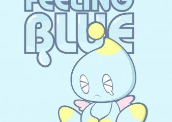 FEELING BLUE t shirt graphic design