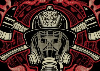 Firefighter Last Out t shirt graphic design