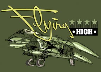 FLYING HIGH t shirt graphic design