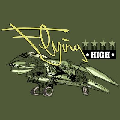 FLYING HIGH t shirt graphic design