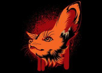 Fox t shirt graphic design
