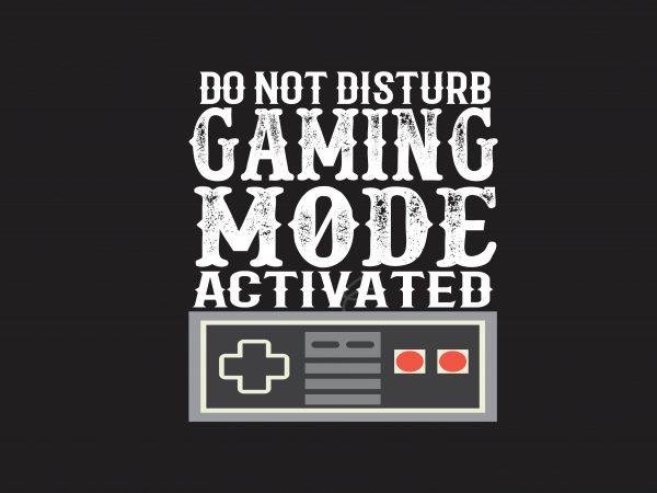 Do Not Disturb t shirt vector illustration