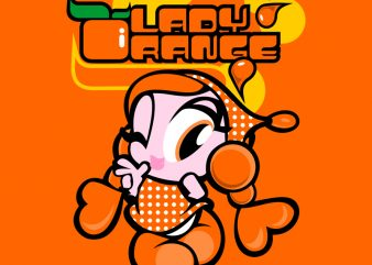 LADY ORANGE t shirt vector graphic
