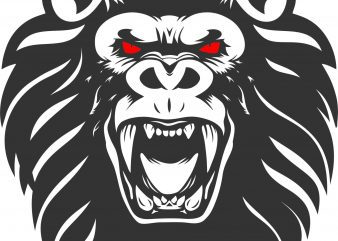 Lion Kong tshirt design template