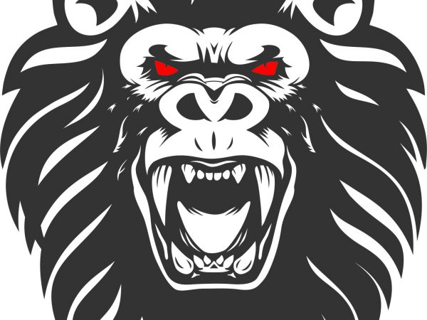 Lion Kong tshirt design template