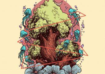 LOVE TREE II t shirt vector graphic