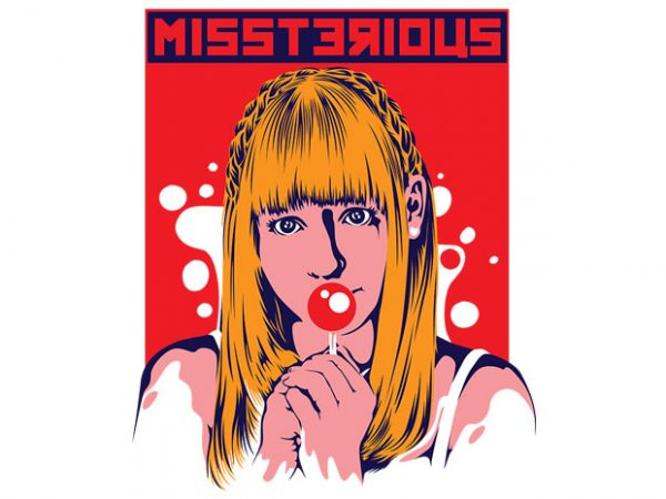 Miss Terious t shirt designs for sale