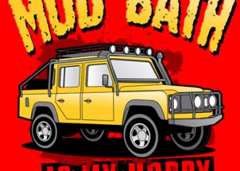 MUD BATH t shirt designs for sale