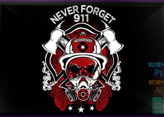 Never forget T shirt vector artwork