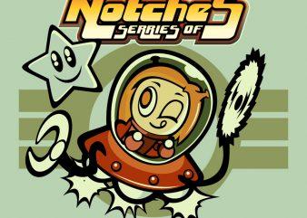 NOTCHES T shirt vector artwork
