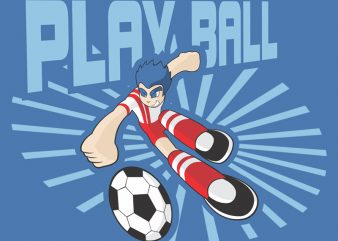 PLAY BALL t shirt illustration