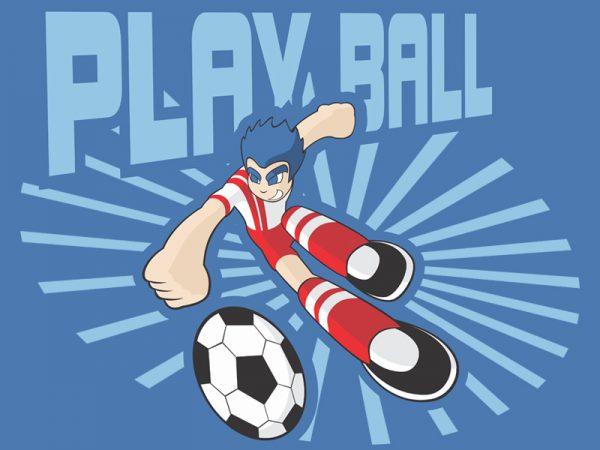 PLAY BALL t shirt illustration