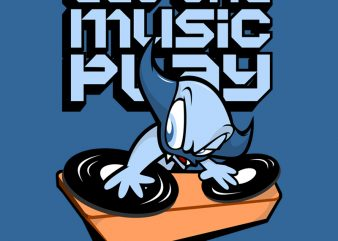LET THE MUSIC PLAY t shirt vector graphic