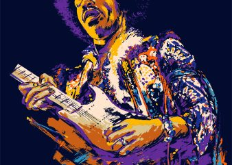 PURPLE HAZE t shirt illustration