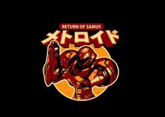 return of samus t shirt design online