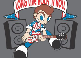 ROCK N ROLL t shirt design online