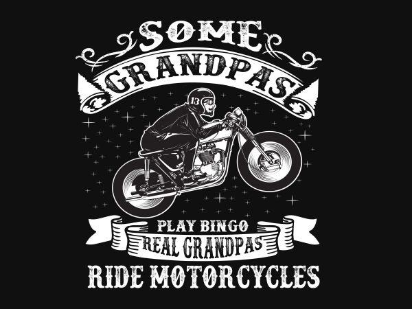 Some Grandpa t shirt template vector