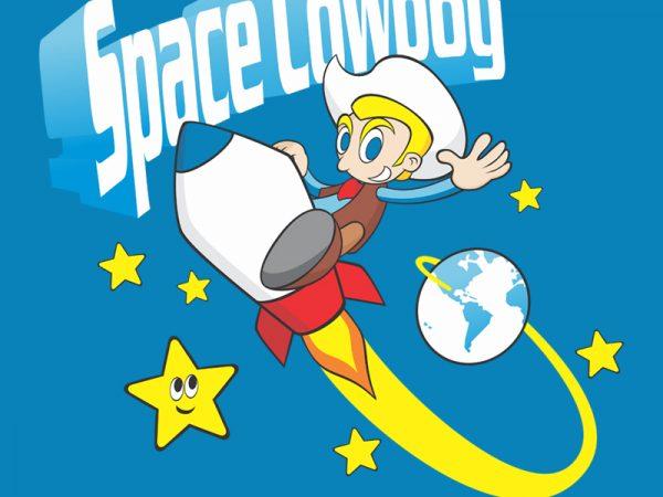 SPACE COWBOY t shirt template vector
