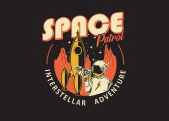 space patrol t shirt template vector