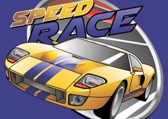 SPEED RACE t shirt template vector