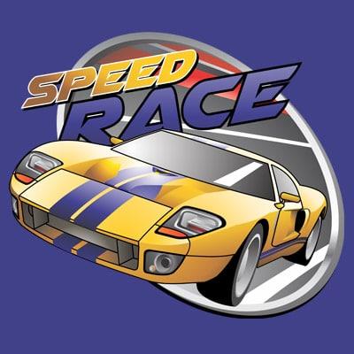 SPEED RACE t shirt template vector