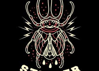 stinger beetle tshirt design
