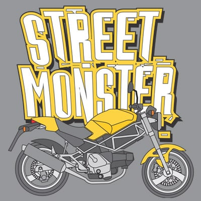 STREET MONSTER t shirt template vector