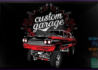 Custom garage t shirt vector file