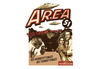 area 51 t shirt vector