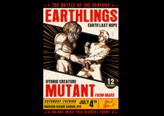 mutant fight t shirt designs for sale