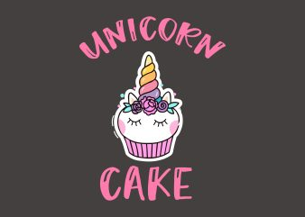 Unicorn Cake t shirt vector graphic