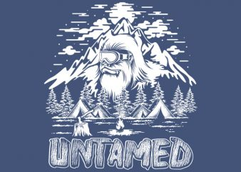 untamed t shirt vector graphic