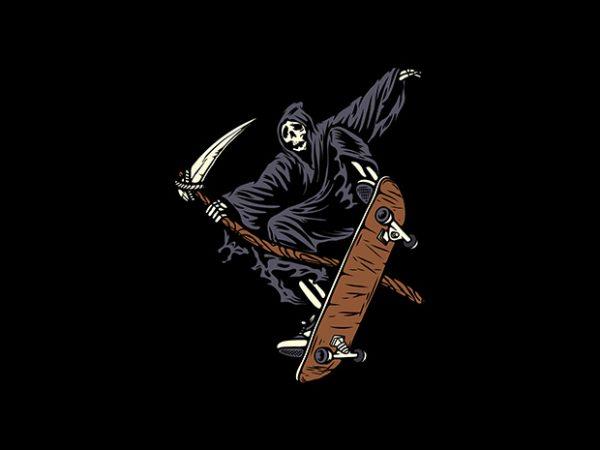 Skate Reaper t shirt template vector