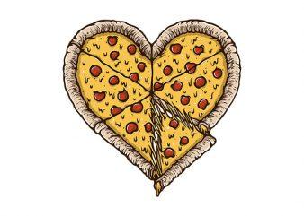 Pizza Lover t shirt illustration